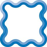 Waves frame (vector) Stock Photos