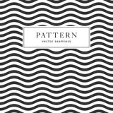 Waves geometric seamless pattern royalty free illustration