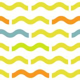 Waves geometric seamless pattern. Simple summer style background. Colorful decoration design stock illustration