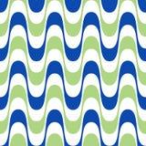 Waves geometric seamless pattern. Simple wavy zigzag stripes. Background. Colorful modern decoration design Royalty Free Illustration