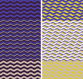 Waves - geometric seamless patterns Royalty Free Stock Photography