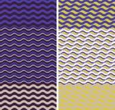 Waves - geometric seamless patterns Royalty Free Stock Photography