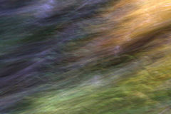 Waves of Glory. An abstract of motion taken in the forest while moving my camera Royalty Free Stock Images