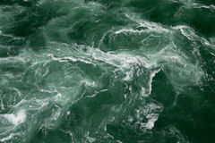 Waves in green water. With white ripples Stock Images