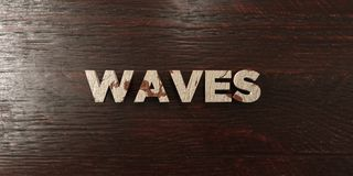 Waves - grungy wooden headline on Maple  - 3D rendered royalty free stock image Royalty Free Stock Photography