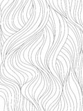 Waves or hair background vector. Abstract wavy background. Monochrome pattern with waves or hair. Black and white vector illustration. Can be used for coloring royalty free illustration