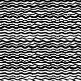 Waves - hand drawn marker and ink seamless pattern Royalty Free Stock Photo