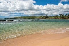Waves on Hawaii beach panorama Stock Photo