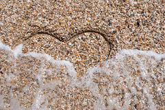 Waves and heart Royalty Free Stock Photos