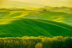 Waves Hills, Rolling Hills, Minimalistic Landscape Stock Images