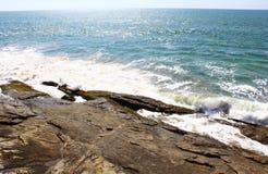 Waves hit the rock, Bentota Stock Photo