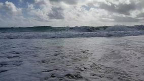 Waves at the beach stock video footage