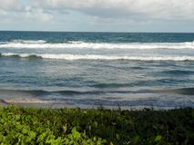 Waves hitting on Brazilian shore royalty free stock images