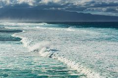 Waves at hookipa beach maui hawaii Royalty Free Stock Photo