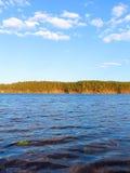 Waves on Hracholusky dam Royalty Free Stock Photo