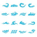 Waves Icons Set Stock Photos
