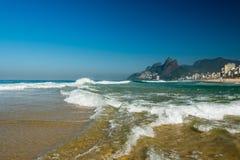 Waves in Ipanema Beach Stock Photos