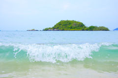 Waves island. Royalty Free Stock Images