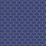 Waves. Japanese sashiko motif. Seamless pattern. Royalty Free Stock Photo
