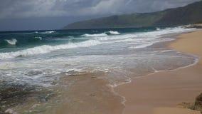 Waves on Keaau Beach Beach stock video