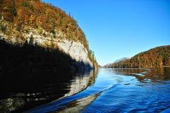 Waves on Konigssee lake Stock Photo