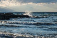 Waves on Lake Iznik Royalty Free Stock Images