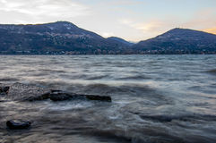 Waves on lake maggiore Royalty Free Stock Photo