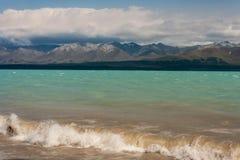 Waves at Lake Pukaki Stock Images