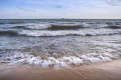 Waves. Lapping on the beach royalty free stock photos