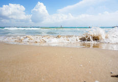 Waves lapping on the shore Royalty Free Stock Images