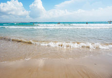 waves lapping on the shore Stock Photography
