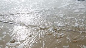 Waves lapping the shore stock video