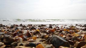Waves Lapping the shore stock video footage