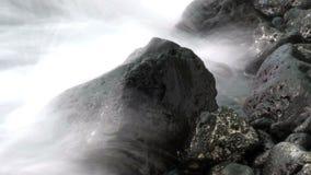 Waves on Lava Rocks stock video footage