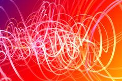 Waves of Light Over Colorful Background Royalty Free Stock Images