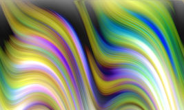 Waves like fluid abstract background. Fluid lines in movement in yellow, blue, pink and violet hues and colors. Abstract texture and design Stock Images