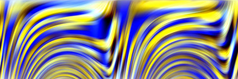 Waves like fluid yellow abstract background Stock Images