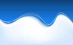 Waves and Lines Background. Vector Illustration Royalty Free Stock Images