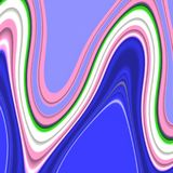 Waves lines, blue phosphorescent pink background. Forms and fluid lines background. Abstract vivid background, circular lines of various sizes in blue vector illustration