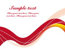 WAVES LINES SAMPLE TEXT Royalty Free Stock Photo