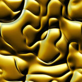 Waves liquid metal texture Royalty Free Stock Images