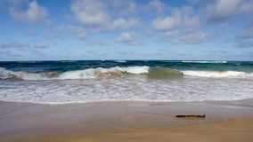 Waves at Lydgate beach Stock Image