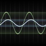 Waves measuring display Stock Photography