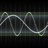 Waves measuring display Royalty Free Stock Photo