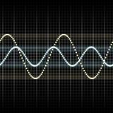 Waves measuring display Stock Photo