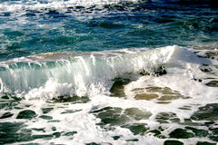 Waves  in Mediterranean sea. Israel Royalty Free Stock Images