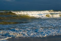 Waves on the Mediterranean sea before the storm royalty free stock images