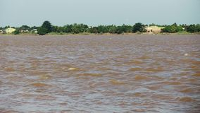 Waves , mekong ,  cambodia, southeast  asia stock video footage