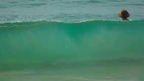 On the waves stock video footage
