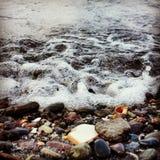Waves. Mini waves in Blacksea royalty free stock photo
